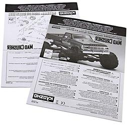 Kyosho 1/8 Mad Crusher GP 4WD RS Owners Instruction Manuals