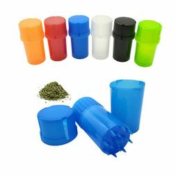 Plastic Herb Grinders Crusher Herbal Spice Mill Grinder Can
