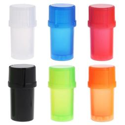1X 40MM 3 Parts Spice Mill Plastic Herb Grinder Crusher Can