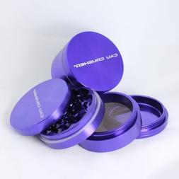 Cali Crusher 4 Piece 2.5 Hard Top Herb Grinder - Purple... b