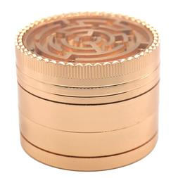 "2"" Maze Top 4 Piece Grinder Herb Spice Crusher ROSE GOLD / G"