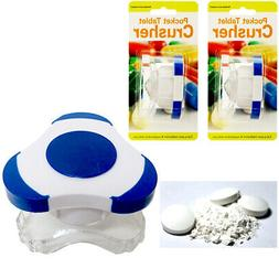 2 X Pill Crusher Tablet Grinder Medicine Cutter Durable Plas