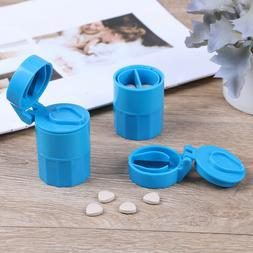 4 in 1 Pill crusher grinder splitter divider cutter storage