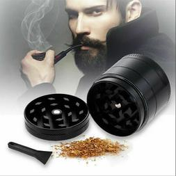4 Layers Herb Grinder Crusher Black Color Diameter 2 inch Ma