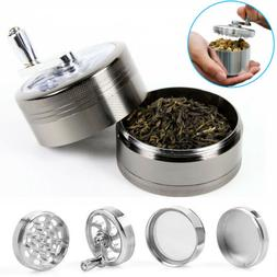 "4 PCS 2"" Zinc Tobacco Herb Grinder Crusher with Handle for H"