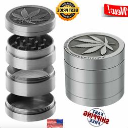 4 Piece Herb Grinder Spice Tobacco Smoke Zinc Alloy Crusher