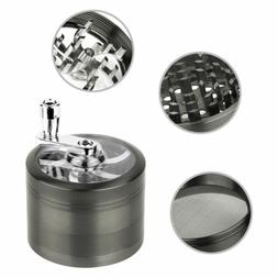 4 Piece Herb Spice Grinder Crusher Zinc Alloy With Hand Mull