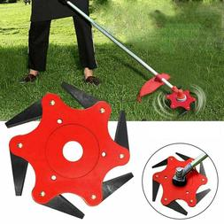 6 Steel Trimmer Cutter Head 4inch Garden Lawn Mower Blade Ra