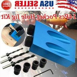 850 Easy Drill System DIY Pocket Hole Jig Kit Woodworking Sc