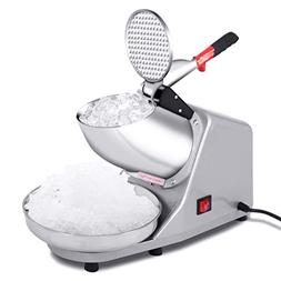 Goplus Electric Ice Crusher, Ice Shaver Machine, Snow Cone M