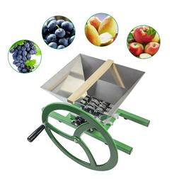 Fruit and Apple Crusher 7L Stainless Steel Manual Juicer Gri