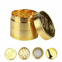 Gold Tobacco Crusher Metal Tobacco Herb Spice Grinder Spice