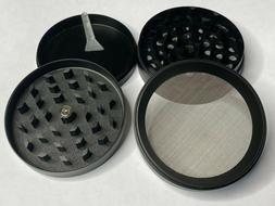 "2.5"" Large Grinder Herb Spice Tobacco 4 Piece Crusher Metal"