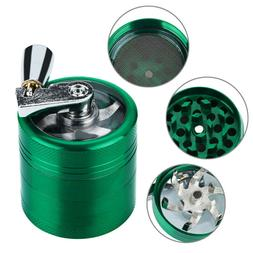 Hand Crank Crusher Tobacco Green Grinder 4-layer 40mm Metal