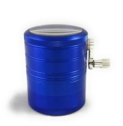 Hand Crank Herb Mill Crusher Tobacco Smoke Grinder 2.5 inch