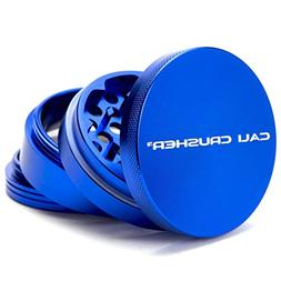 "Cali Crusher 4 Piece 2.5"" Hard Top Herb Grinder - Blue"