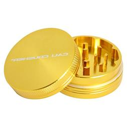 Cali Crusher HARD TOP 2 Piece Herb Grinder - Gold