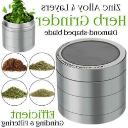 "Herb Grinder Crusher for Tobacco 4 Piece 2"" Metal Hand Mulle"