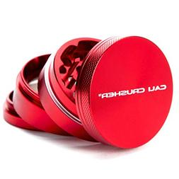 Cali Crusher Herb Grinder 4 Piece Red