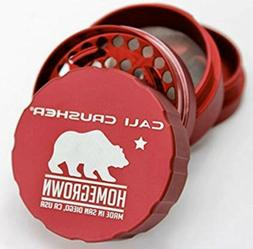 Cali Crusher Homegrown 2.35 Inch 4 Piece Red Standard Hard G