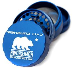 Cali Crusher Homegrown 4 Piece Grinder Blue