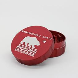 Cali Crusher Homegrown 2 Piece Grinder Red