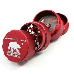 Cali Crusher Homegrown Pocket 4 Piece RED Herb Grinder 1.85""