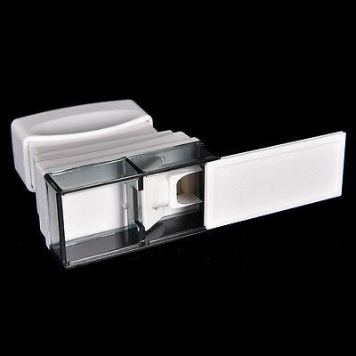 1pcs Pill Crusher Splitter Cutter Organize Box