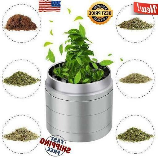 4 Herb Grinder Spice Tobacco Smoke Zinc Alloy Crusher
