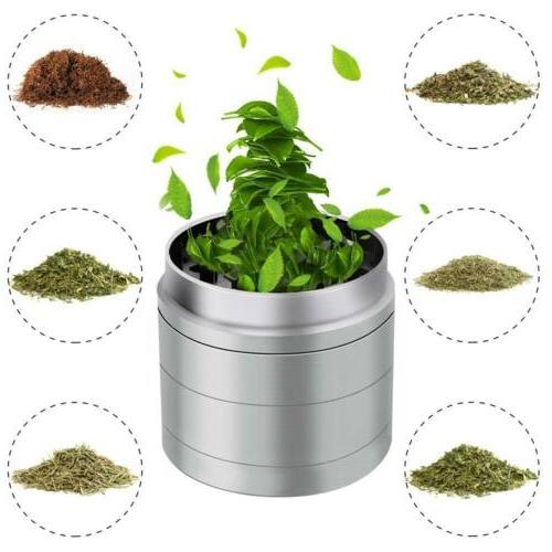 4 Piece Herb Spice Alloy Crusher Leaf