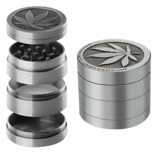 4 Grinder Spice Smoke Alloy Leaf