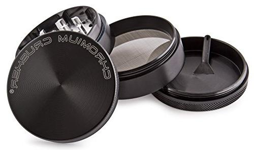 Chromium Crusher 4 Tobacco Herb Grinder Black