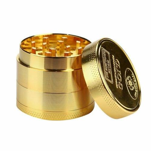 40MM Gold Tobacco Crusher Metal Tobacco Herb Spice Grinder S
