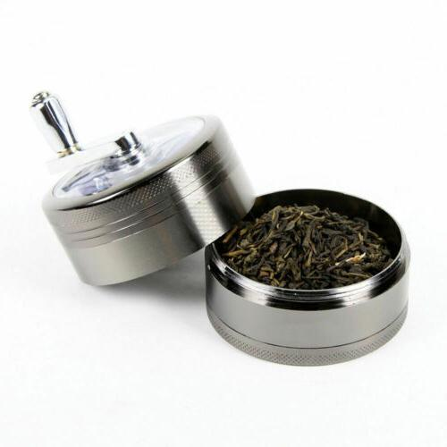 Large Stainless Tobacco Herb Weed Grinder-4 Crusher