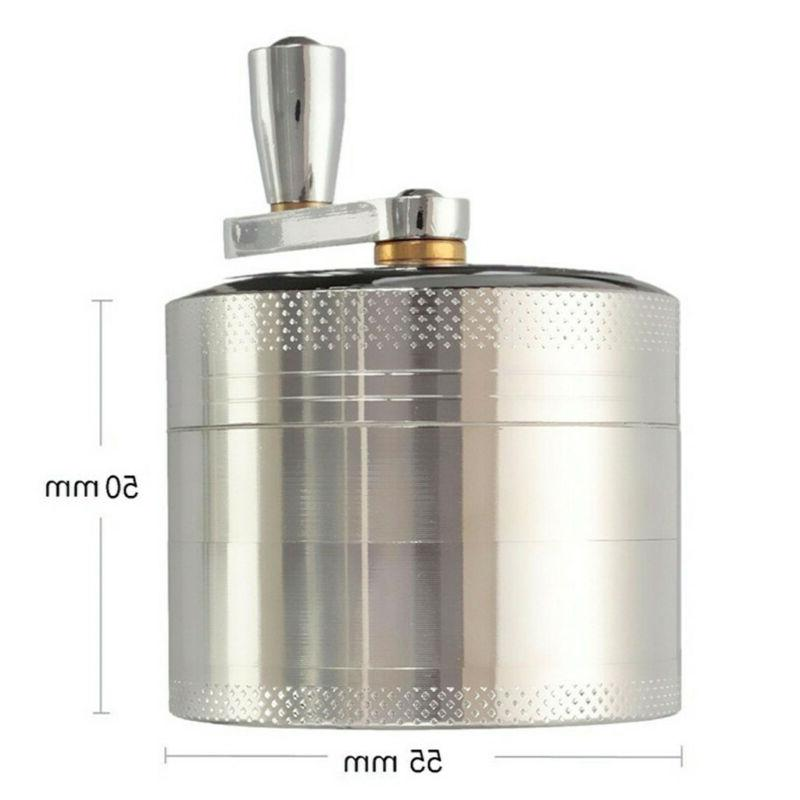 Large Spice Tobacco Herb Weed Grinder-4 Crusher 55MM Silver