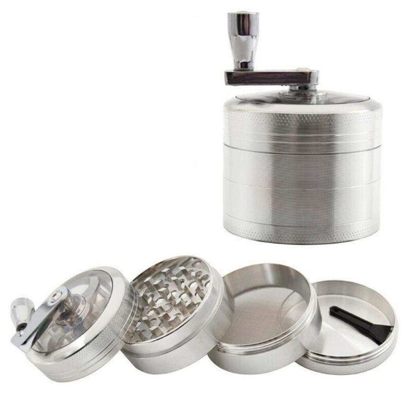Large Spice Herb Weed Crusher Silver