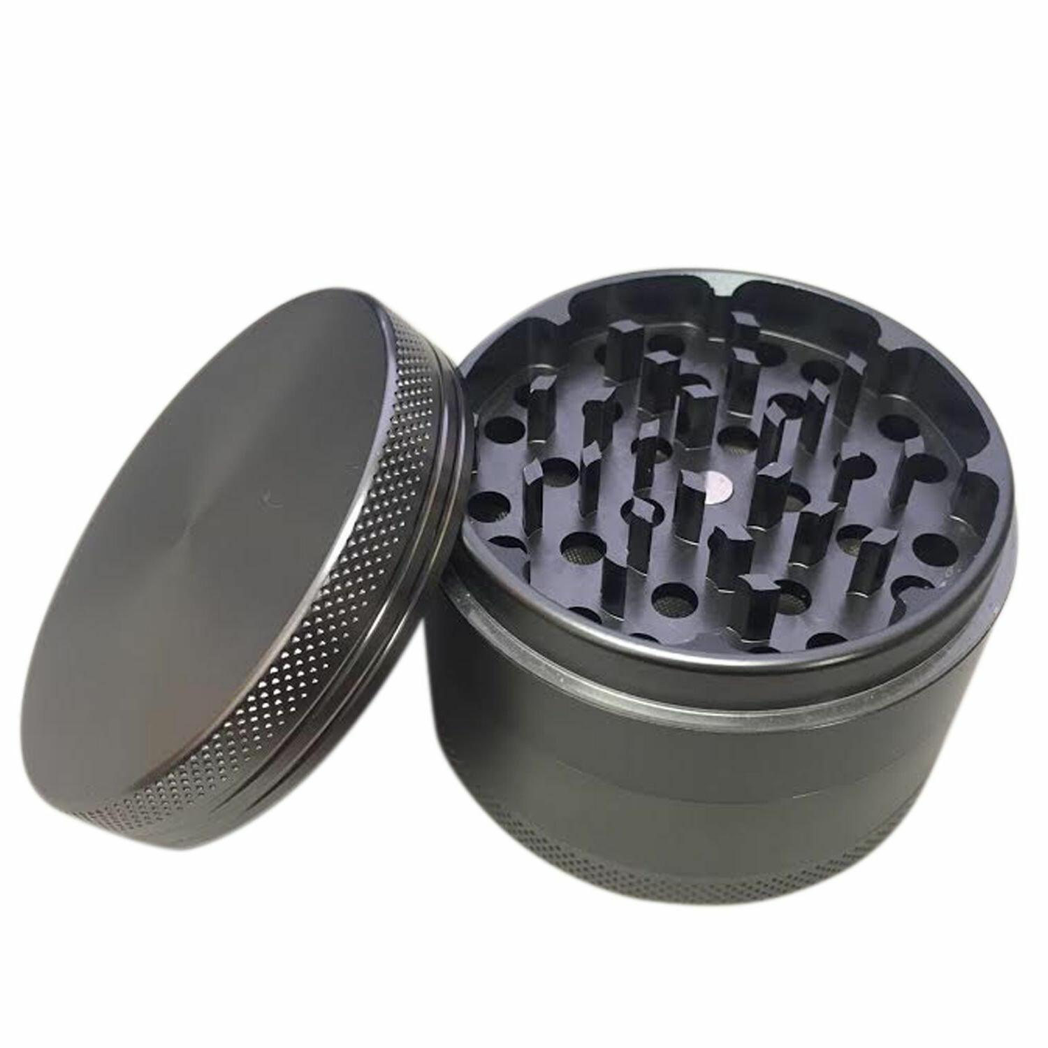 4 Piece Magnetic 2.5 Inch Black Tobacco Grinder Spice Aluminum Scoop