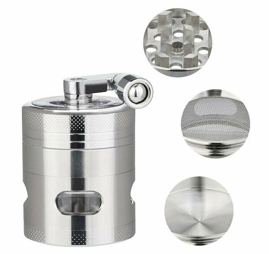 New 4-layer Weed Spice Mill Hand Grinder