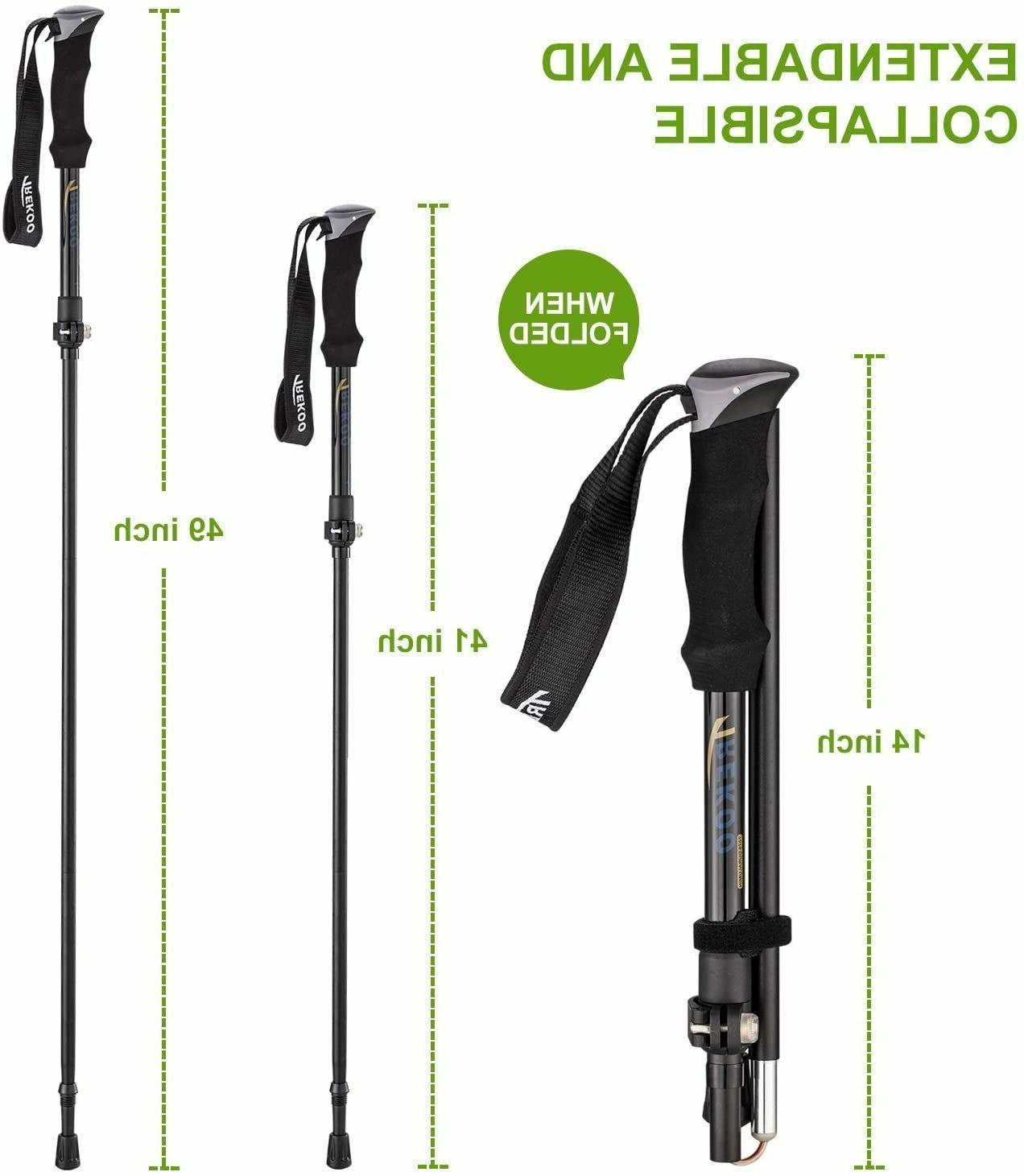 Pair Hiking Sticks Adjustable anti-shock