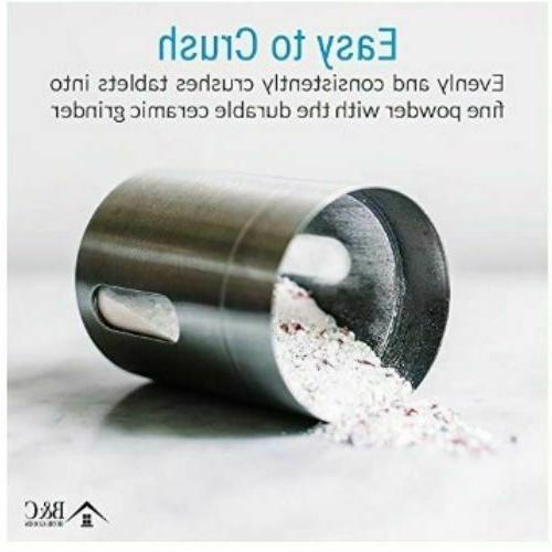 Pill Crusher Grinder Stainless Steel Grind