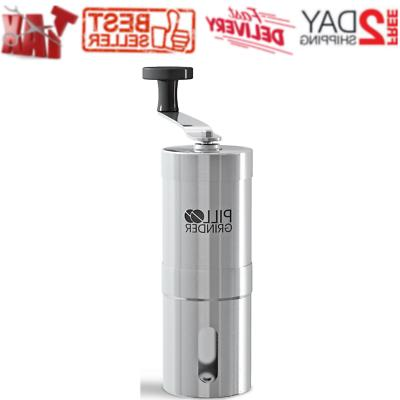 pill grinder stainless steel tablet and vitamin