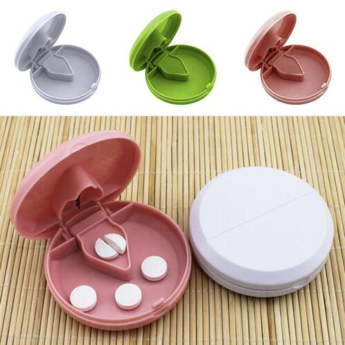 portable medicine pill splitter storage box case