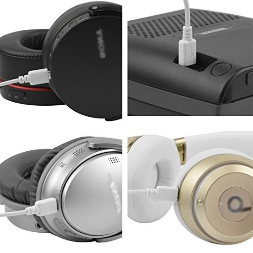 Geekria QuickFit Headphones Cable SoundLink, Solo2, Solo3, Sony / Charging / Charger