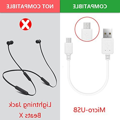 Geekria Cable for Bose QC35, SoundLink, Sony MDR-XB950BT / Micro-USB Cable
