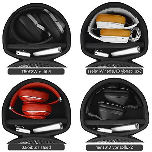 Geekria for Skullcandy HESH Crusher Wireless, Crusher Shell Bag Space Cable, Charger
