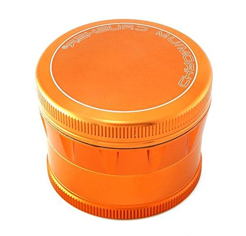 Chromium Crusher Grip 4 Tobacco Herb Grinder with Box