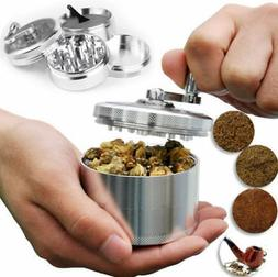 Large Stainless Spice Tobacco Herb Weed Grinder-4 Layers Cru