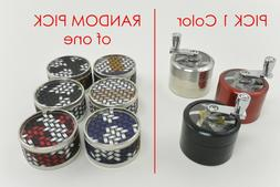 Chrome Crusher 4-Layer + Pattern Grinder for Tobacco Spice