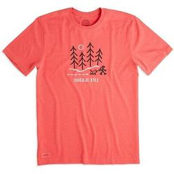 Life is Good. Mens Crusher Tee: Winter Wanderland, Heather A