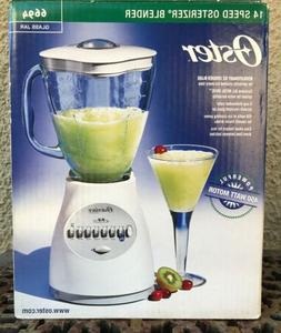 NEW Oster 14 Speed Osterizer Blender Glass Jar White 6694 45